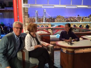 Marcy Syms on the David Letterman Set