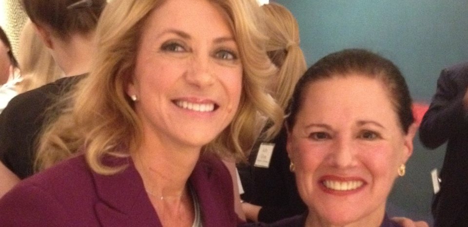 Marcy Syms with Wendy Davis, Texas State Senator